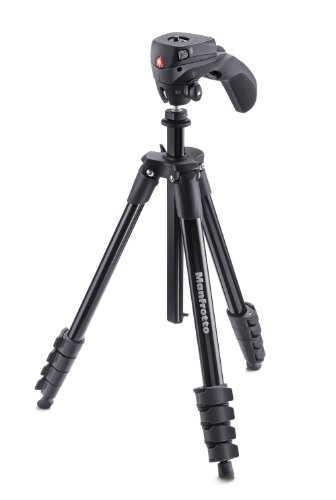Manfrotto 三脚 COMPACT Action フォト・ムービーキット アルミ 5段 ブラック MKCOMPACTACN-BK