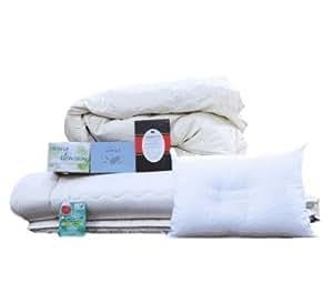 布団セット シングル 羽根布団 ホワイトグース入り掛布団 日本製 寝具セット
