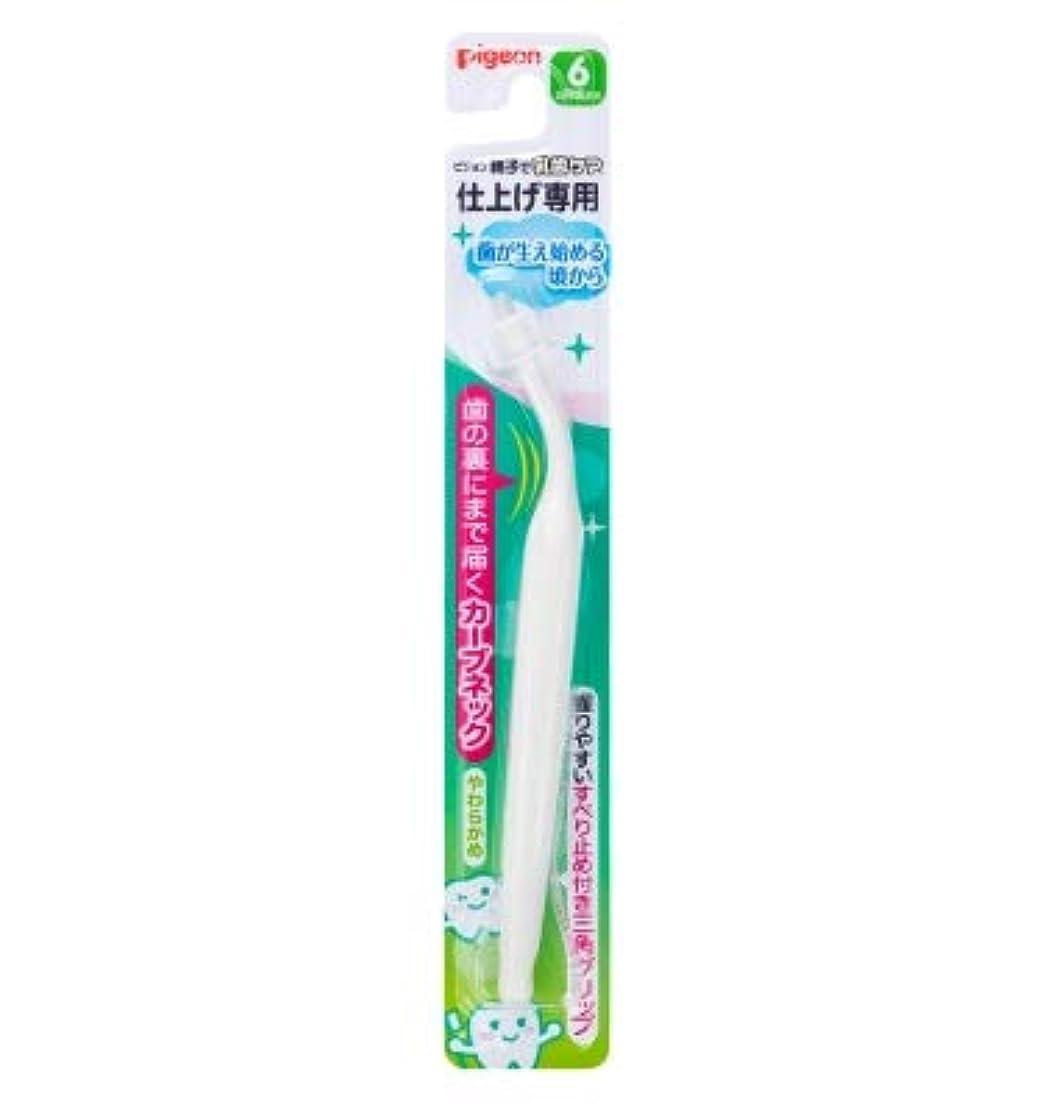 講堂前者洪水【まとめ買い】ピジョン 仕上げ専用歯ブラシ 歯が生え始める頃から ×12個