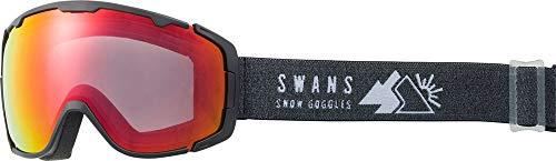SWANS(スワンズ)成形球面ミラー ダブルレンズ スノーゴーグル スキー スノーボード 大人用 150-MDHS MBK F