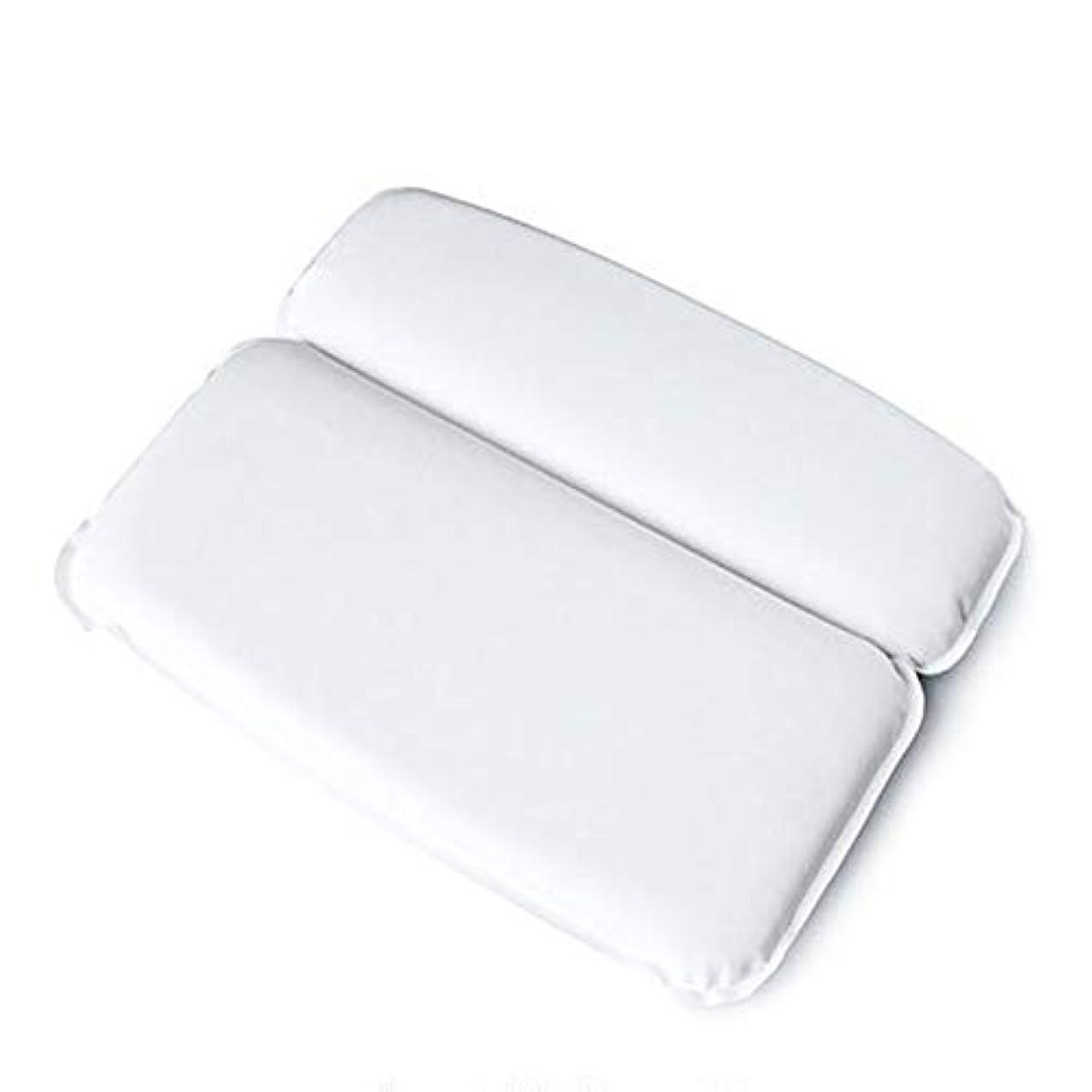 かき混ぜるアボート把握浴槽枕 バス枕クッションは頭と首を強い吸引カップノンスリップフィットジャグジー、スパサポートしています バスルーム枕 (色 : 白, サイズ : 30 x 40cm)