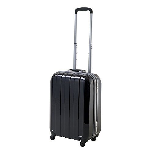 ヒデオワカマツ マスキュラースーツケース Sサイズ 30.5L 機内持ち込みOK (~3泊程度)[85-75160] - ブラック