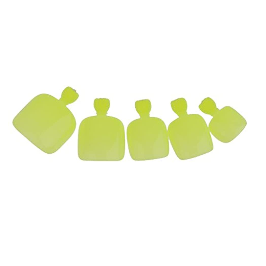 人種経験自然【ノーブランド品】24個 フルカバー ペディキュア 人工 ネイルアート ヒント 全14色選べる - 緑