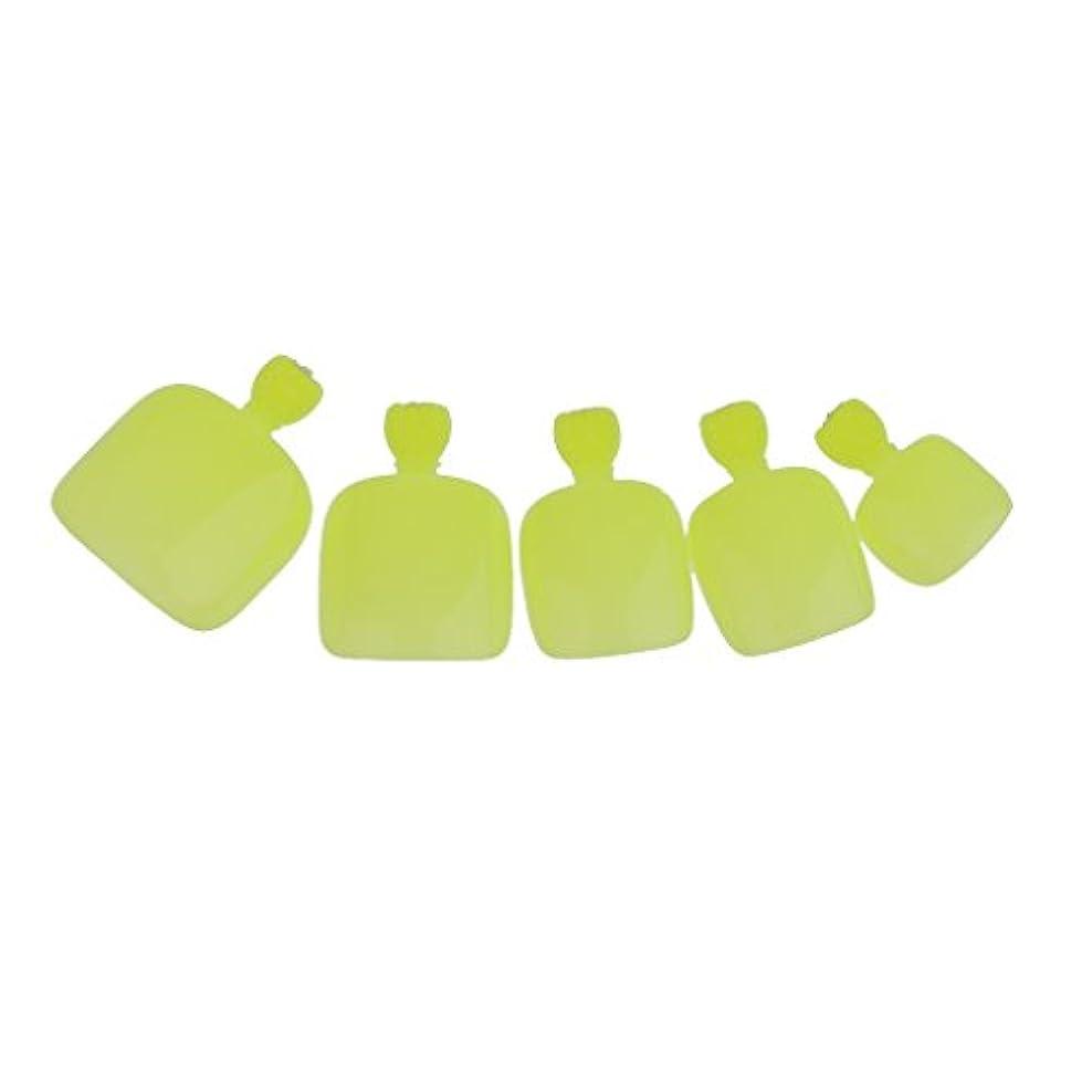 オープナー交通渋滞クッション【ノーブランド品】24個 フルカバー ペディキュア 人工 ネイルアート ヒント 全14色選べる - 緑