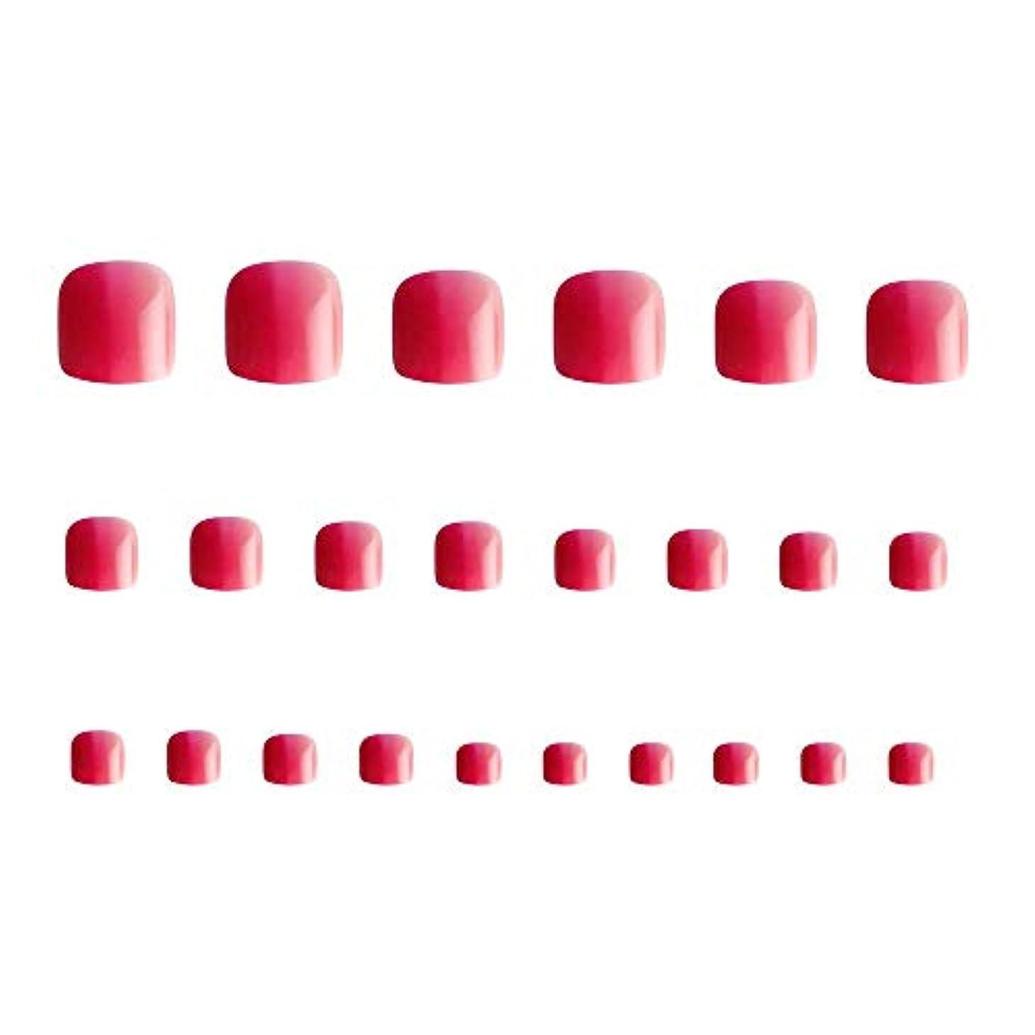 洋服会員奨励します24枚 12別サイズ つや 足の爪 ピンク グラデーション 短い 四角形ネイルチップ フルカバー