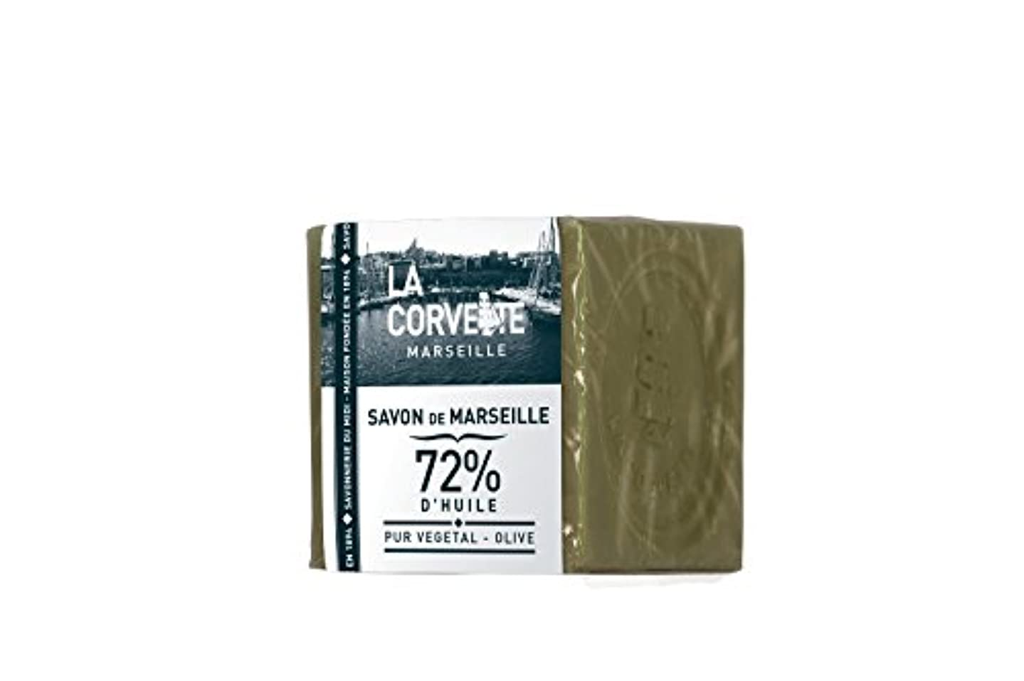一かる休日La Corvette(ラ?コルベット) サボン?ド?マルセイユ オリーブ 200g