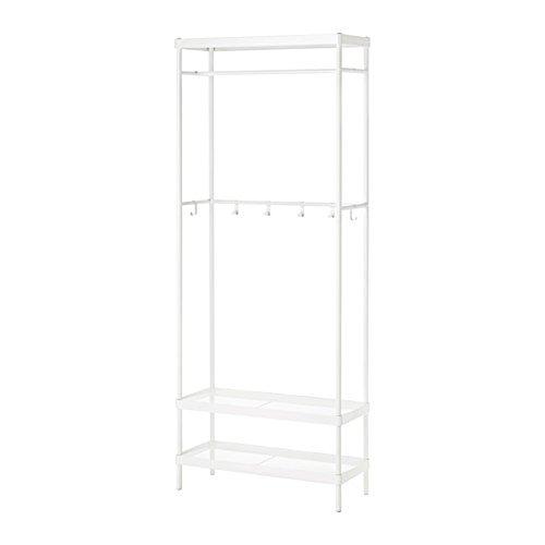 IKEA/イケア MACKAPAR コートラック 靴収納ユニット付き78x193 cm ホワイト