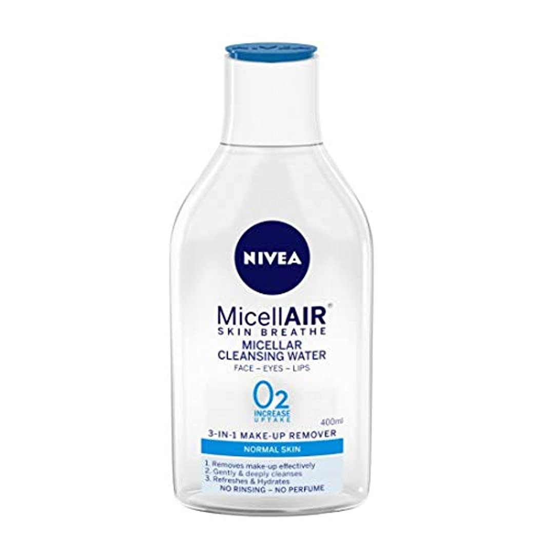 一時的イタリック圧倒的NIVEA Micellar Cleansing Water, MicellAIR Skin Breathe Make Up Remover, 400ml