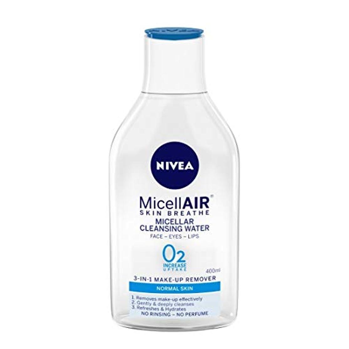 部分天井征服NIVEA Micellar Cleansing Water, MicellAIR Skin Breathe Make Up Remover, 400ml