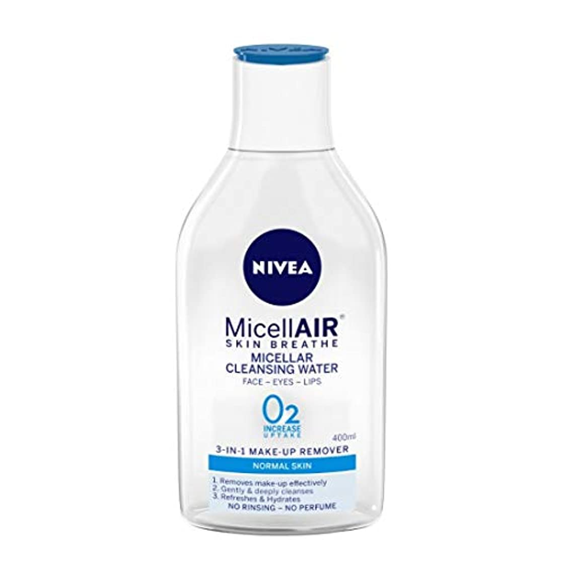 バースト小人破滅NIVEA Micellar Cleansing Water, MicellAIR Skin Breathe Make Up Remover, 400ml