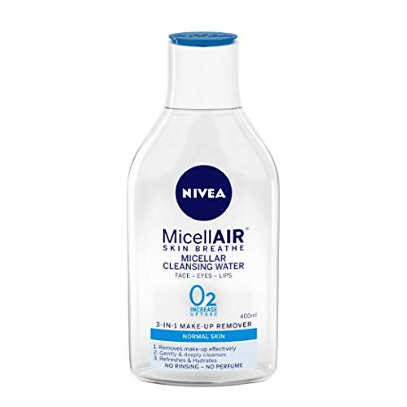 主張するマニフェスト読むNIVEA Micellar Cleansing Water, MicellAIR Skin Breathe Make Up Remover, 400ml