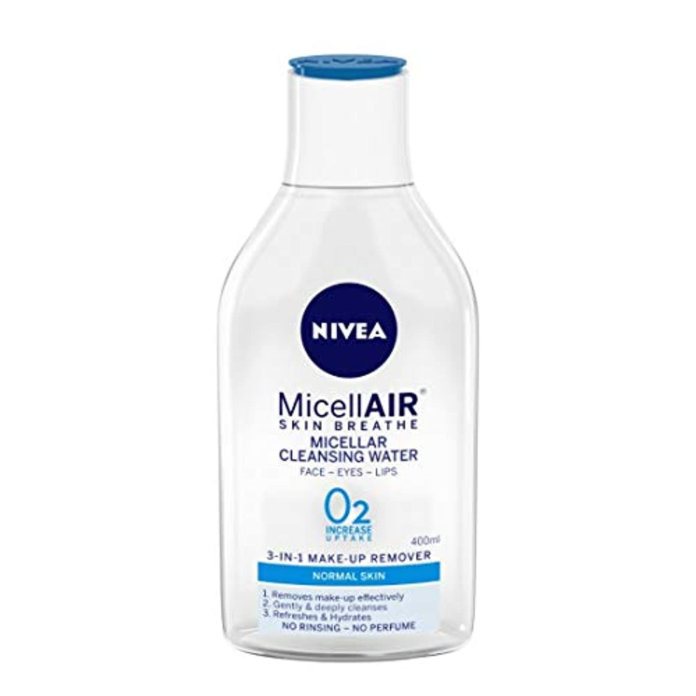 NIVEA Micellar Cleansing Water, MicellAIR Skin Breathe Make Up Remover, 400ml