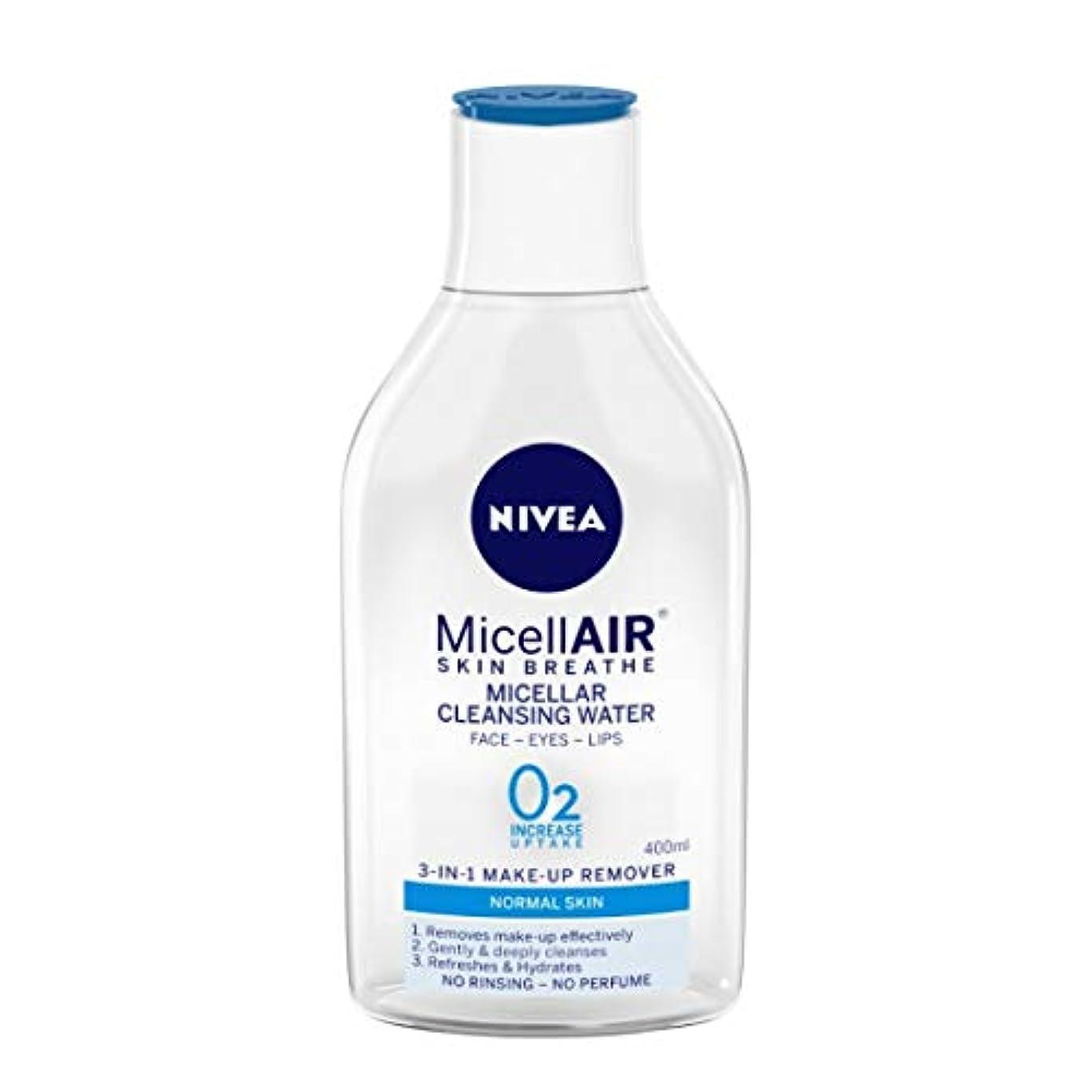 化学放牧する姿勢NIVEA Micellar Cleansing Water, MicellAIR Skin Breathe Make Up Remover, 400ml