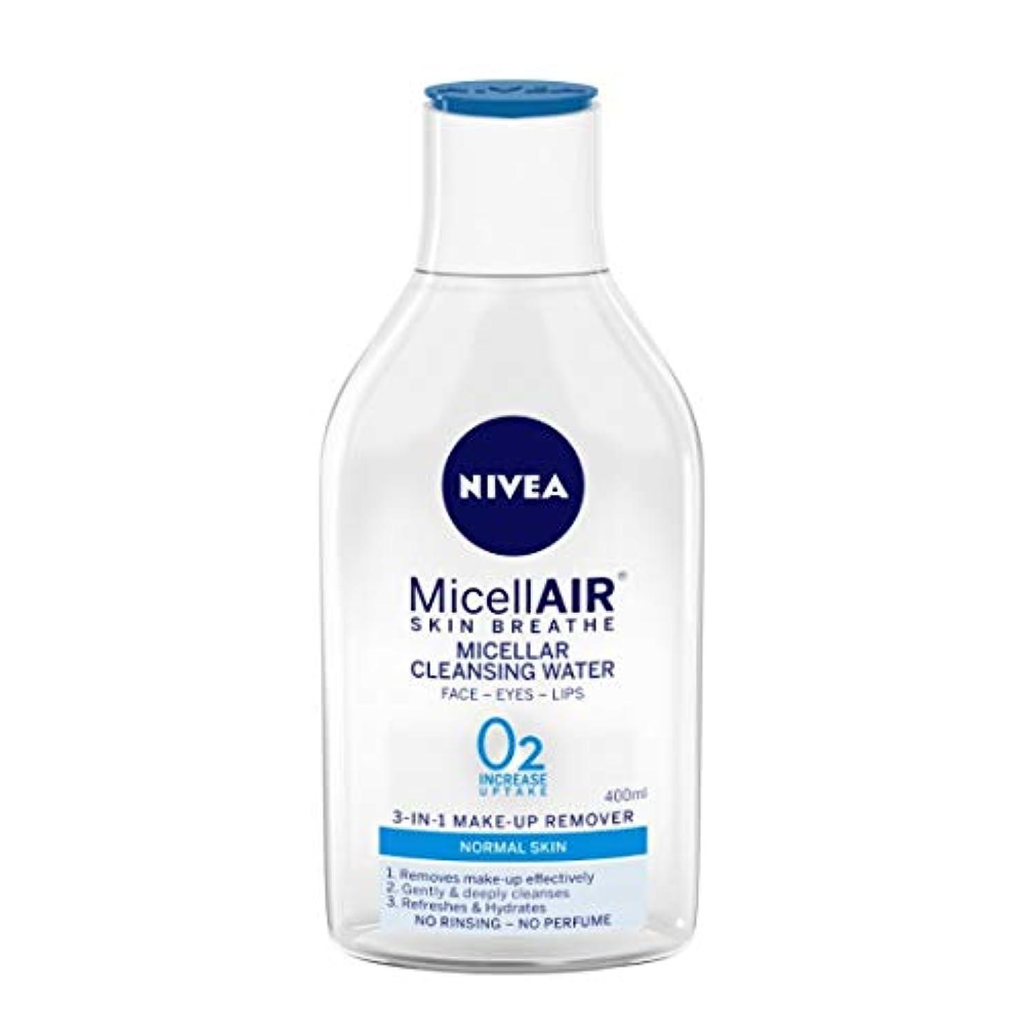 服思い出させる感性NIVEA Micellar Cleansing Water, MicellAIR Skin Breathe Make Up Remover, 400ml
