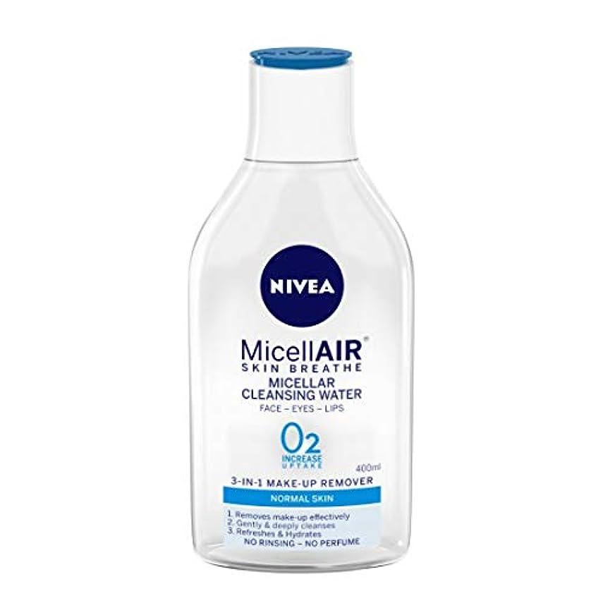 調整する人物予想外NIVEA Micellar Cleansing Water, MicellAIR Skin Breathe Make Up Remover, 400ml