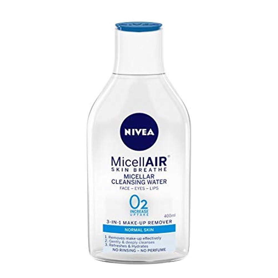 連鎖移住する死の顎NIVEA Micellar Cleansing Water, MicellAIR Skin Breathe Make Up Remover, 400ml