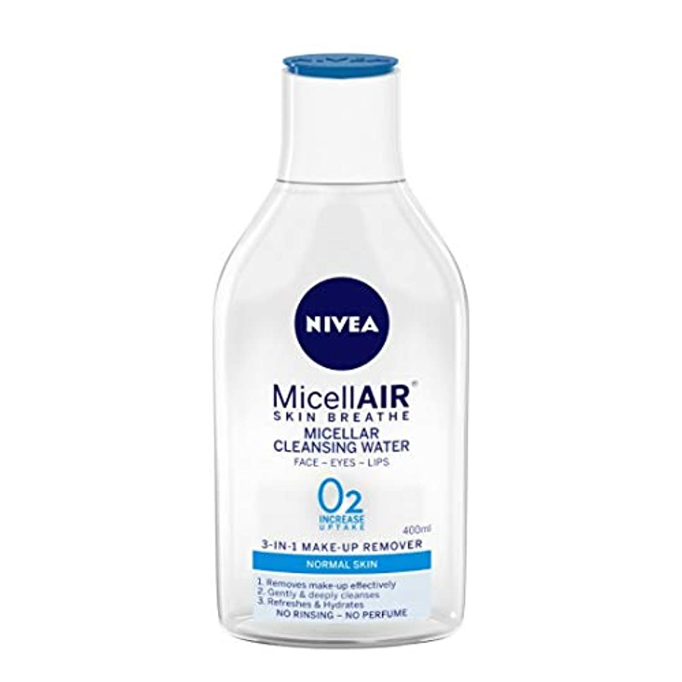 財団宇宙集団的NIVEA Micellar Cleansing Water, MicellAIR Skin Breathe Make Up Remover, 400ml