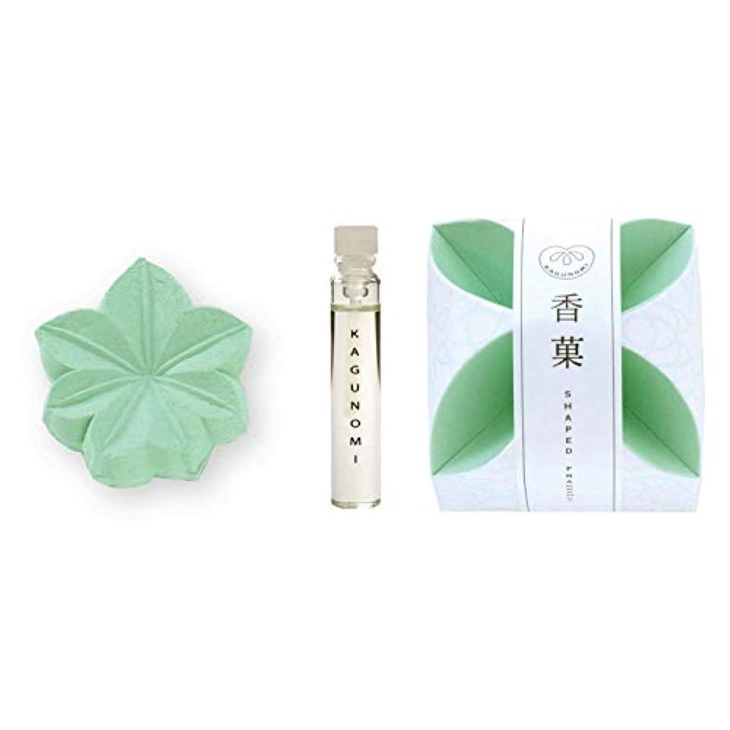 鑑定通訳残り物香菓 もみじ形(緑色)1入 オイル付