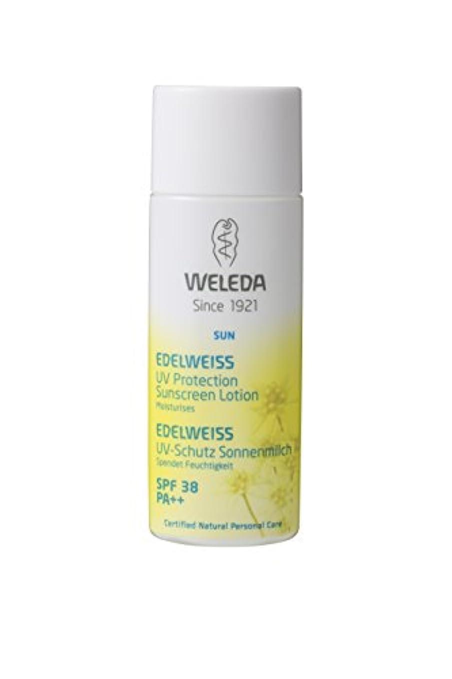 リーフレットフェミニン脇にWELEDA(ヴェレダ) エーデルワイスUVプロテクト SPF38 PA++ 日焼け止め さわやかなシトラスの香り 50ml