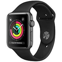 MQL12J/A ブラックスポーツバンド Apple Watch Series 3 GPSモデル 42mm(ウェアラブル端末)