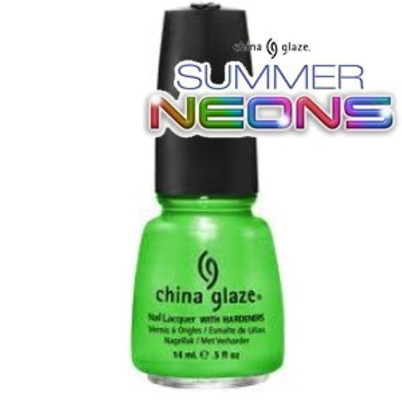 珍味調子音声学(チャイナグレイズ)China Glaze I'm With The Lifeguardーサマーネオン コレクション [海外直送品][並行輸入品]