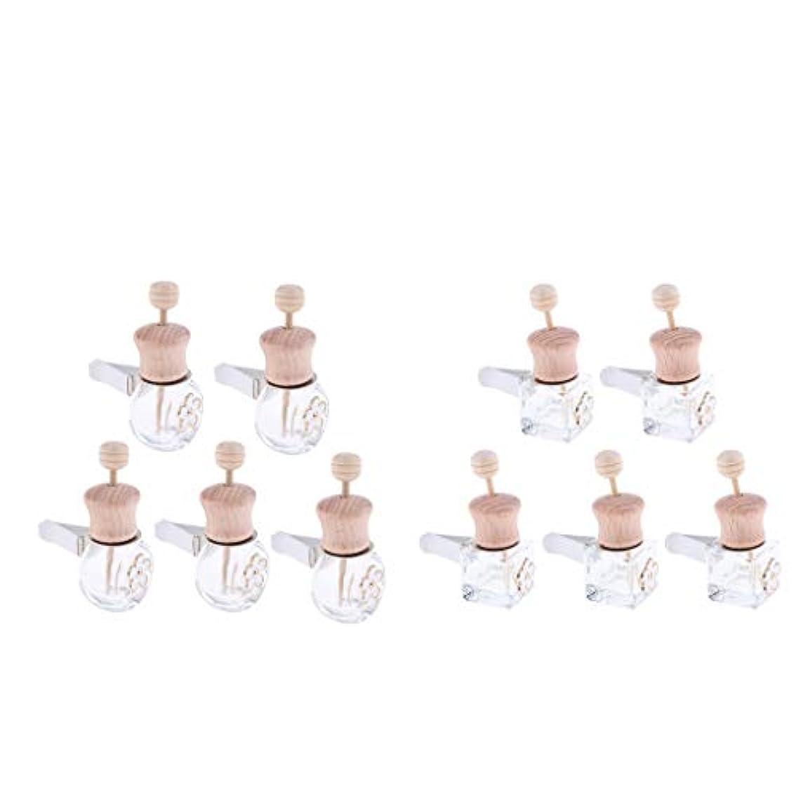 商標名声頑張るSM SunniMix 車 香水ボトル 詰め替え式 ディフューザー 8ml+6ml 装飾 雰囲気 作り出す 10個入