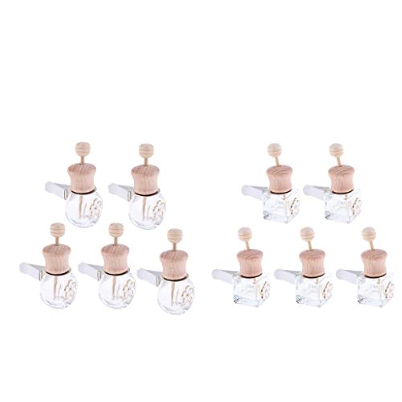 プレゼンタースナップ教育SM SunniMix 車 香水ボトル 詰め替え式 ディフューザー 8ml+6ml 装飾 雰囲気 作り出す 10個入