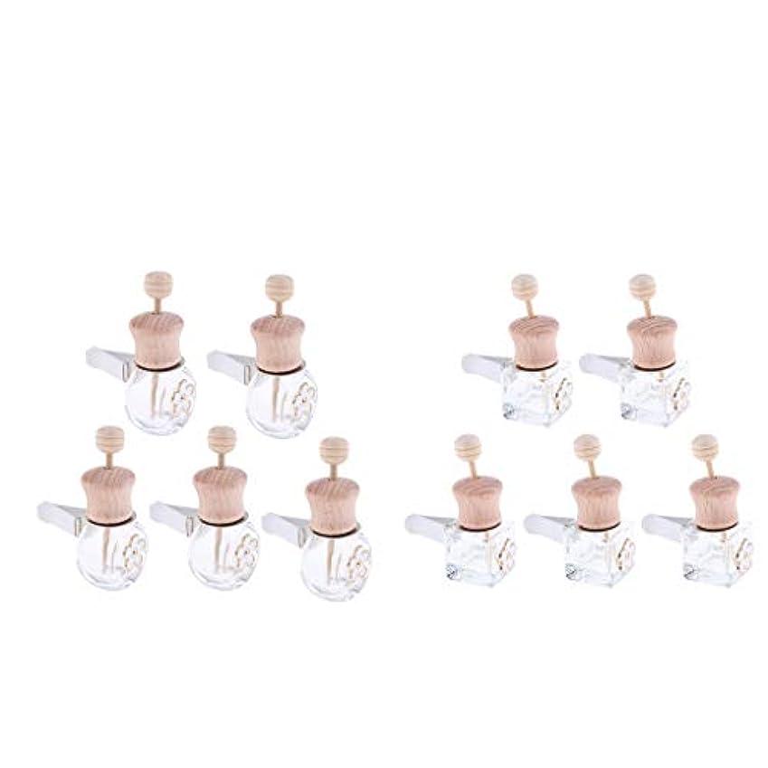 シャンパン次はっきりしないSM SunniMix 車 香水ボトル 詰め替え式 ディフューザー 8ml+6ml 装飾 雰囲気 作り出す 10個入