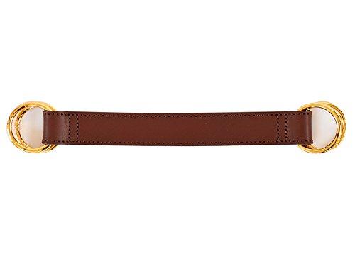 ハンドメイド 革バッグハンドル (チョコ)