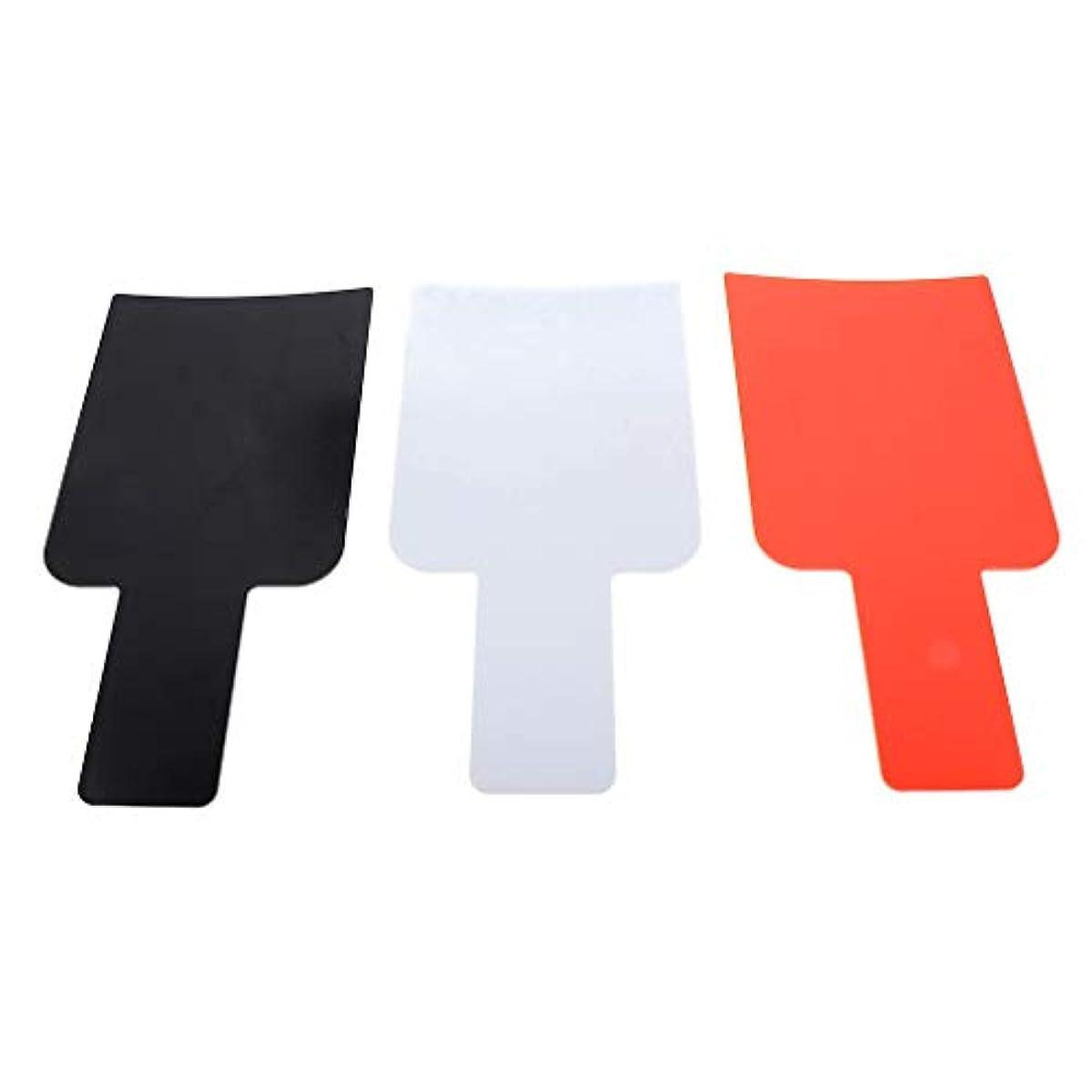 テクスチャー領域ショップハイライトボード ヘアカラーボード DIY髪染め用 毛染め ヘアカラーの用具 使いやすい 3個入