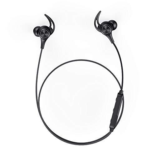 Bluetooth イヤホン、Boltune Bluetooth 5.0 (IPX6防水防汗 高音質 16時間連続再生)マグネット搭載 ノイズアイソレーション AACSBC対応 ワイヤレスイヤホン マイク内蔵 ハンズフリー通話 スポーツ仕様 Bluetooth ヘッドホン 日本語説明書 iPhone Android 用(ブラック)