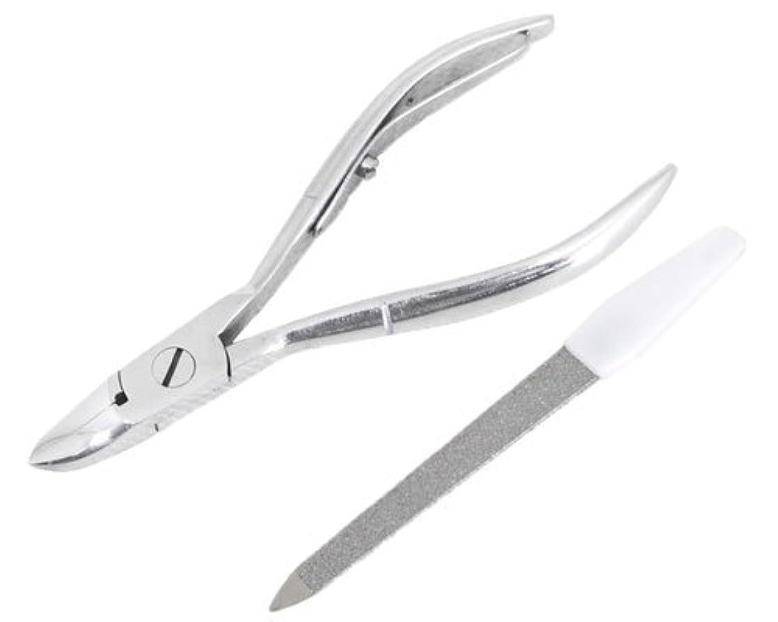 蒸留認めるマーベルニッパー型爪切り 爪仕上げヤスリ付 F-21 (スミカマ)