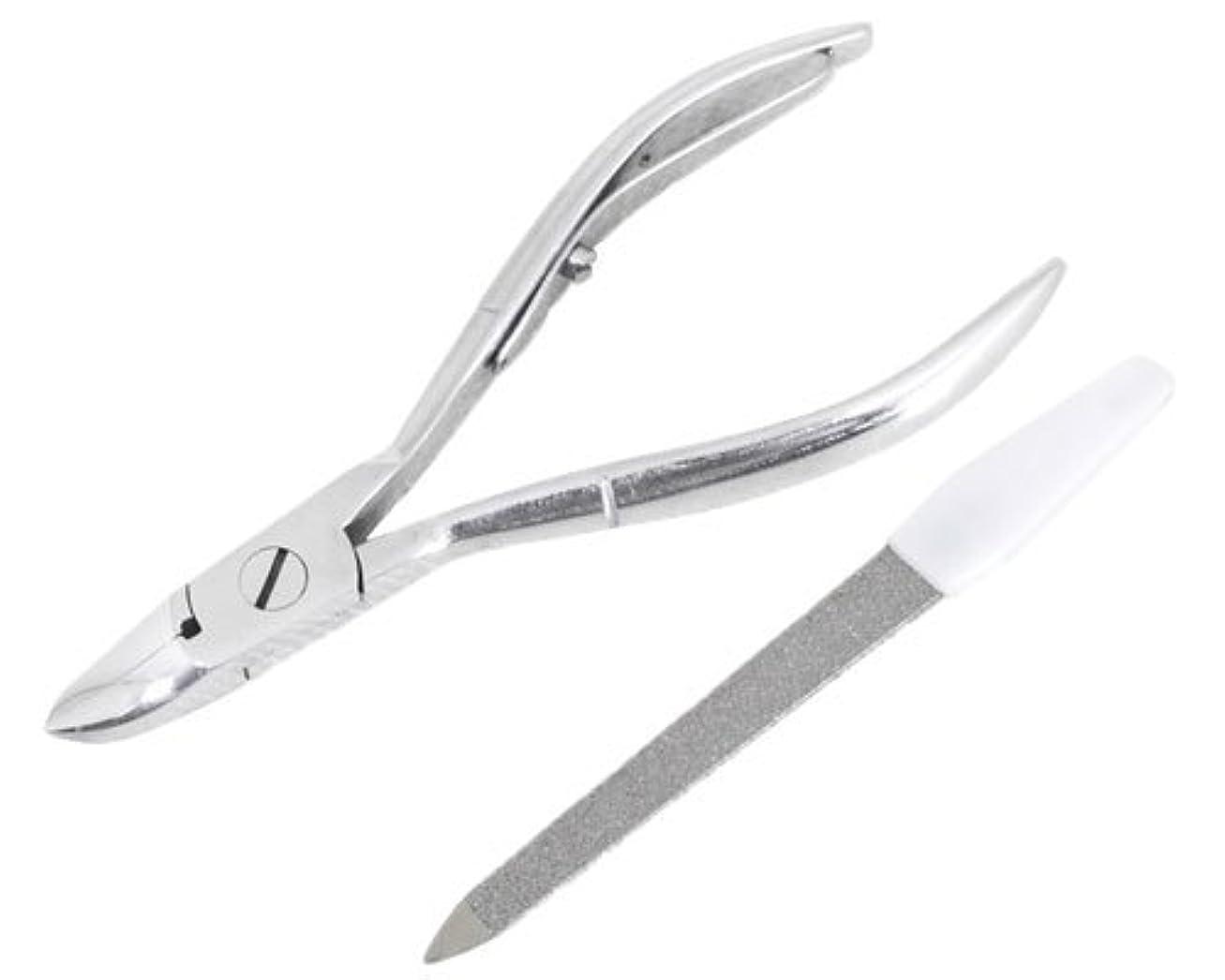 汚物モールス信号思春期ニッパー型爪切り 爪仕上げヤスリ付 F-21 (スミカマ)