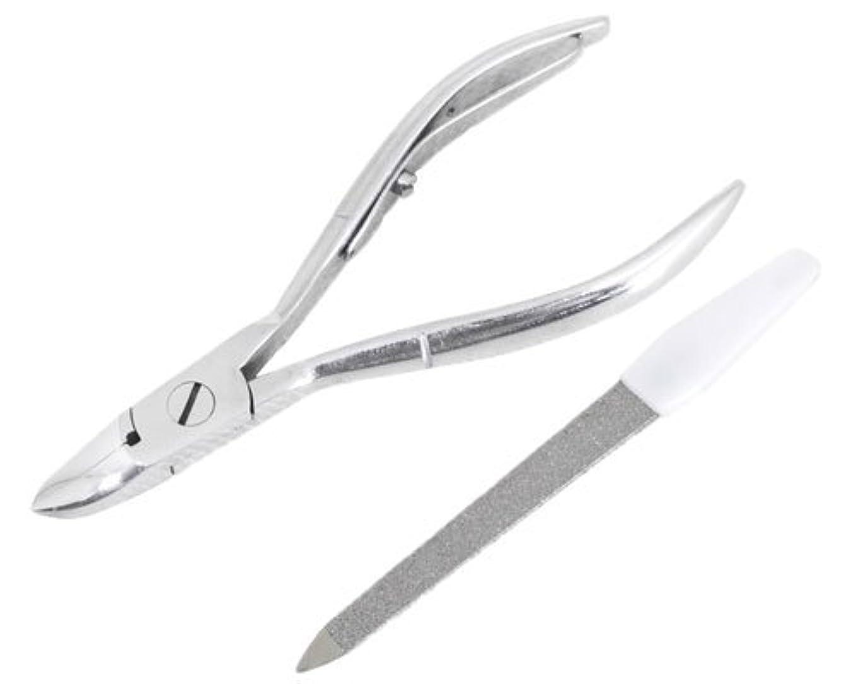 シュリンク漂流州ニッパー型爪切り 爪仕上げヤスリ付 F-21 (スミカマ)