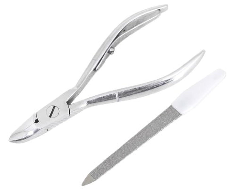 プラットフォーム道徳教育絶対にニッパー型爪切り 爪仕上げヤスリ付 F-21 (スミカマ)