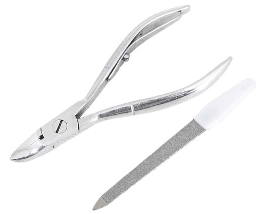 レオナルドダ検索エンジンマーケティング伸ばすニッパー型爪切り 爪仕上げヤスリ付 F-21 (スミカマ)