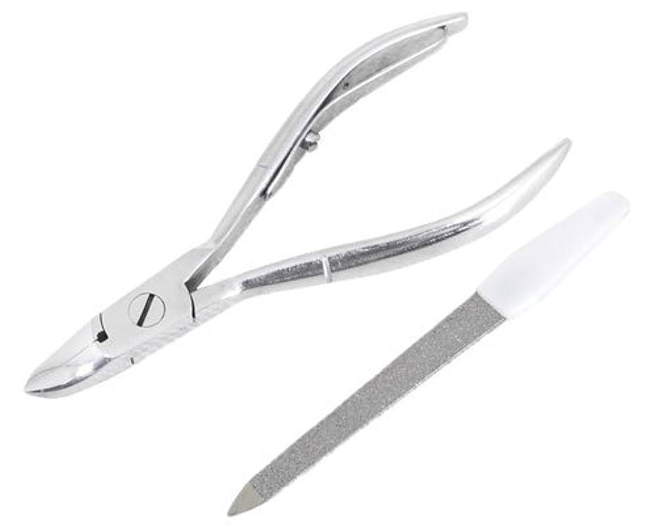 階大臣ウェイドニッパー型爪切り 爪仕上げヤスリ付 F-21 (スミカマ)