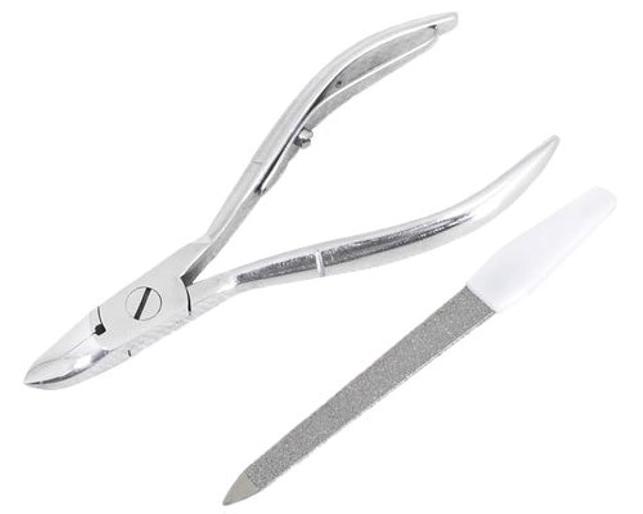 学校教育維持聖人ニッパー型爪切り 爪仕上げヤスリ付 F-21 (スミカマ)