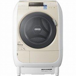 日立 9.0kg ドラム式洗濯乾燥機【左開き】ライトベージュHITACHI ヒートリサイクル 風アイロン ビッグドラム BD-V3600L-C