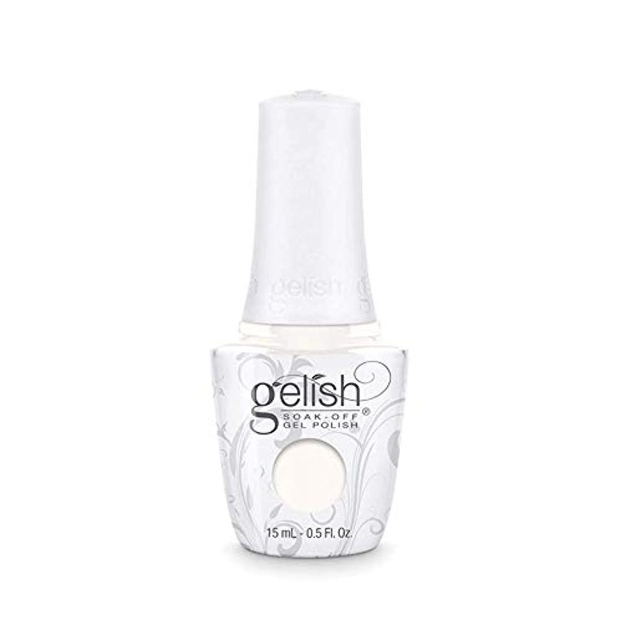 交渉する空港適格Harmony Gelish Gel Polish - Sheek White - 0.5oz / 15ml
