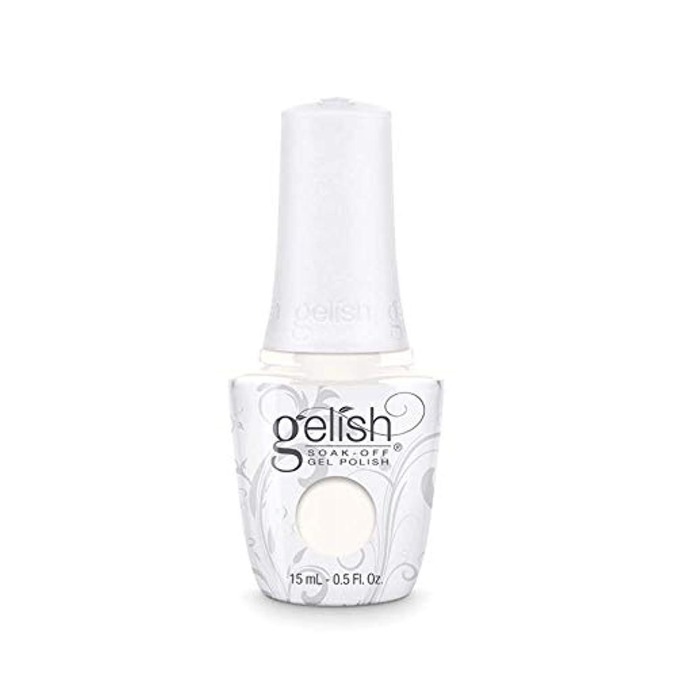 聖なる冊子不屈Harmony Gelish Gel Polish - Sheek White - 0.5oz / 15ml