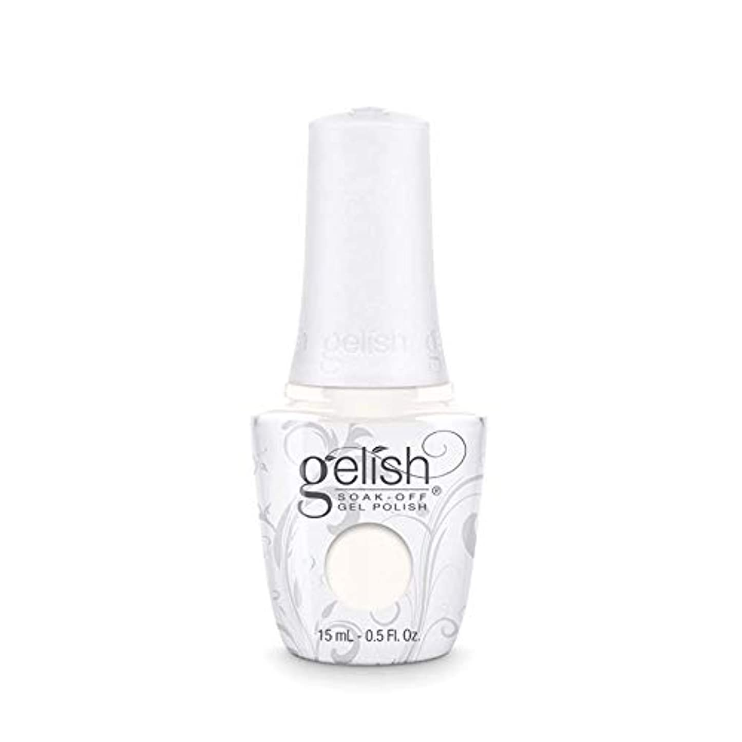 誘導しなければならない尾Harmony Gelish Gel Polish - Sheek White - 0.5oz / 15ml