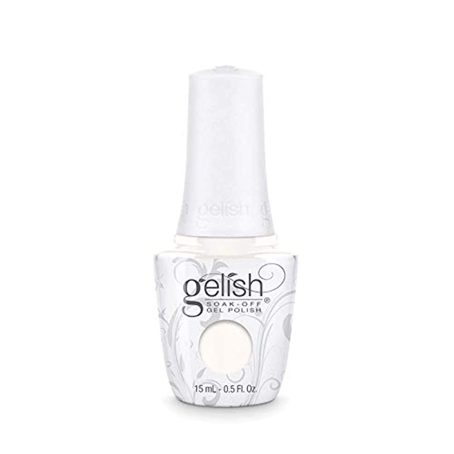 凝縮する一回ペースHarmony Gelish Gel Polish - Sheek White - 0.5oz / 15ml