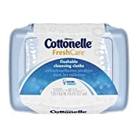 Cottonelle Fresh Flushable Moist Wipes Tub 42 Count, by Cottonelle