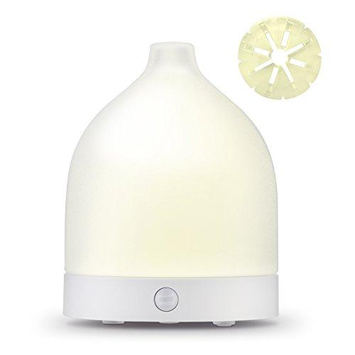 RoomClip商品情報 - 【日本初】ZNT 送風式アロマディフューザー 水なし 電池/USB 掃除不要 人感センサー 静音 コンパクト アロマライト アロマブロック オレンジの香り