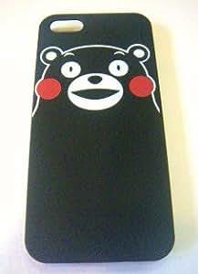くまモン/くまもんグッズ/くまモンのアイフォン5ケース/IPhone5Sカバー/ハードケース/黒