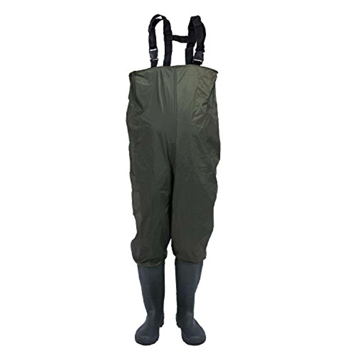 unistrengh防水ナイロン、PVC CLEATED Bootfoot胸Waders Wear Resisting釣りHunting Boot Waders