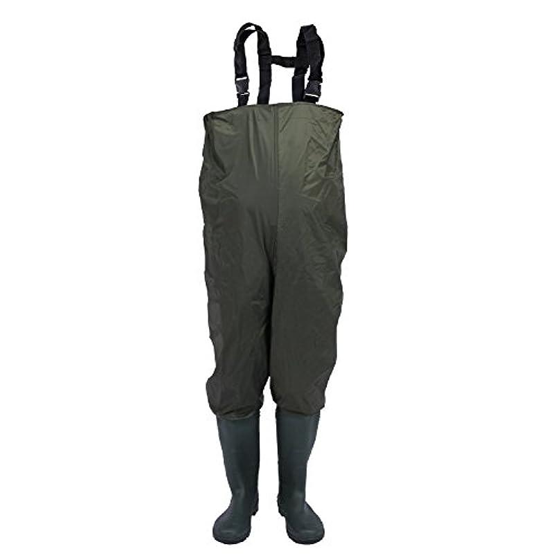 セットアップみすぼらしい趣味unistrengh防水ナイロン、PVC CLEATED Bootfoot胸Waders Wear Resisting釣りHunting Boot Waders