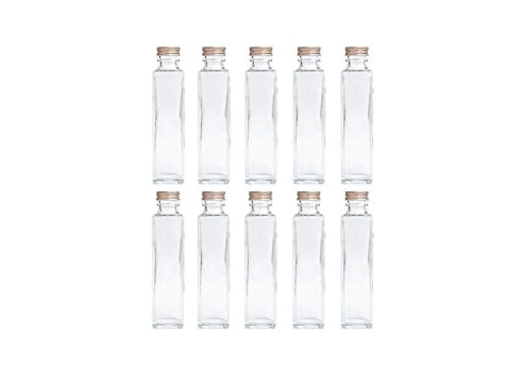 咲くインタラクション戦略HULALA ハーバリウム用ガラス瓶 日本製 10本セット (角型 150ml)