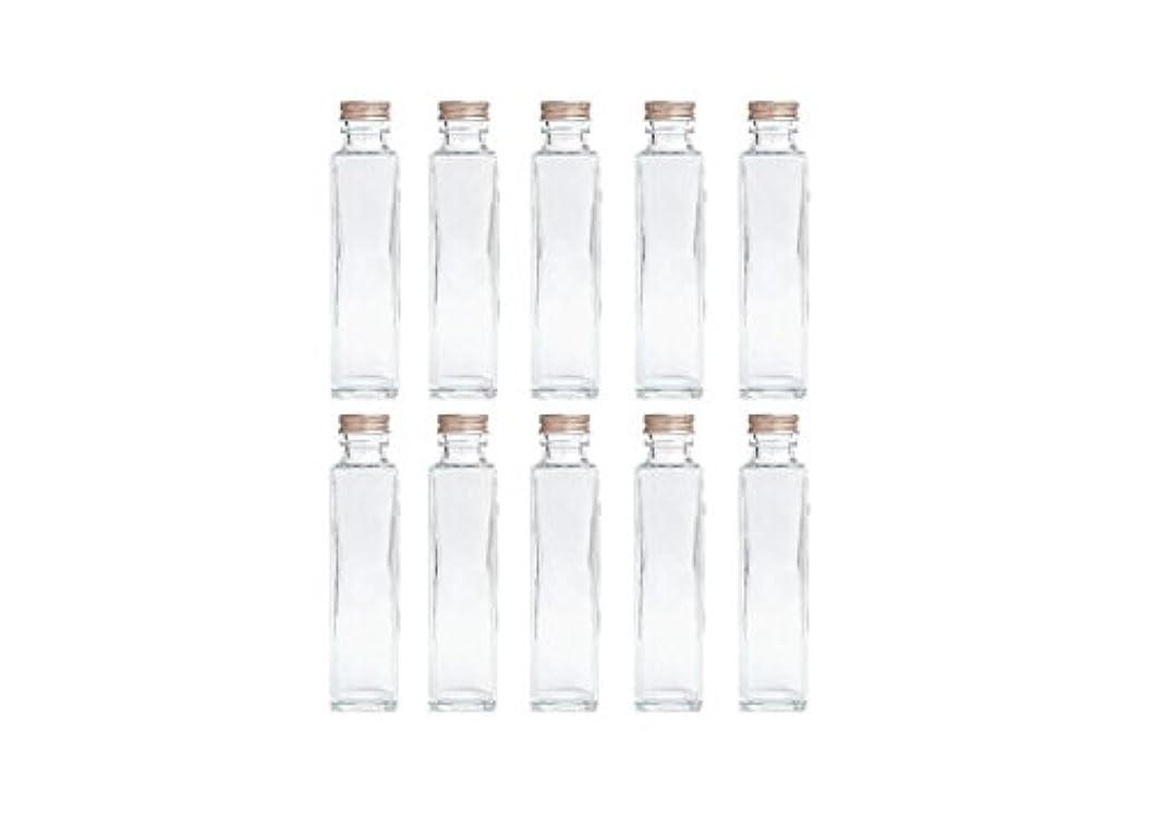 シットコム所得生産性HULALA ハーバリウム用ガラス瓶 日本製 10本セット (角型 150ml)